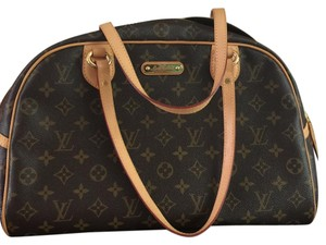 Louis Vuitton Monogram Monturgiel GM Satchel in brown