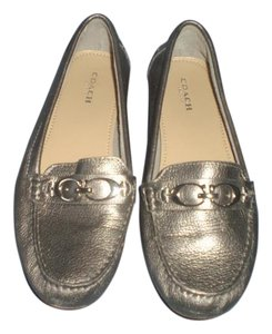 Coach Loafer Logo pewter Flats