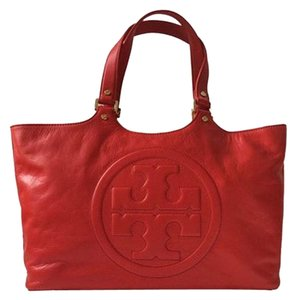 Tory Burch Bombe Tote in Red