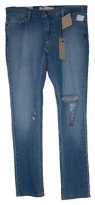 Levi's Ultra Low Rise Distressed Skinny Jeans-Distressed