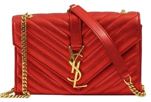Saint Laurent Ysl Monogram Satchel Cross Body Bag