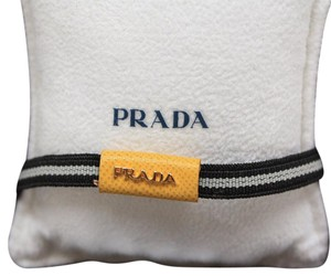 Prada Prada Small Black Elastic Yellow Leather Bracelet 2AJM92