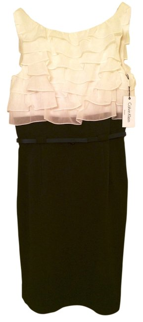 Preload https://item3.tradesy.com/images/calvin-klein-black-and-white-above-knee-cocktail-dress-size-10-m-1708332-0-0.jpg?width=400&height=650