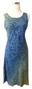 Hilo Hattie short dress Blue Hawaiian Sheath on Tradesy