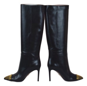 Gucci Women's Riding 362315 Stud Black Boots