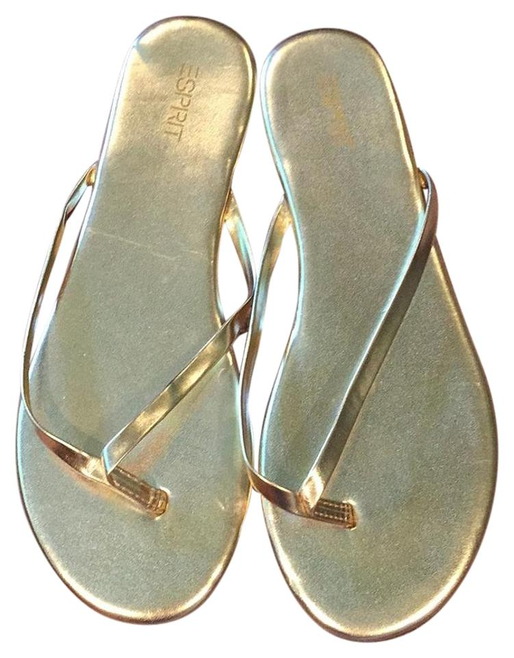 99d4f7058 Esprit Gold Party E Thong Flip-flops Sandals Size US 8 Regular (M