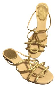 Gucci Metallic Gold/Light Beige Sandals