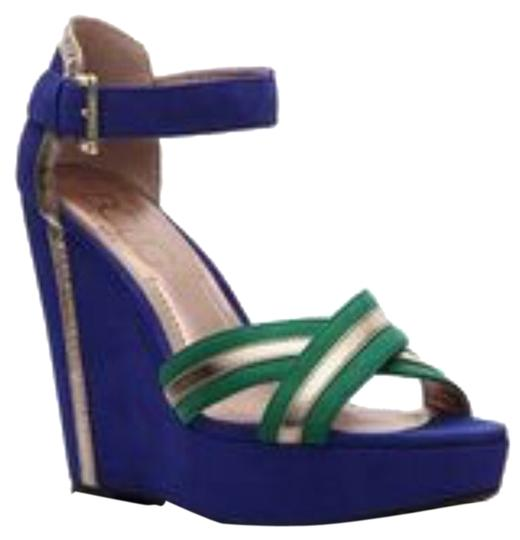 Preload https://item1.tradesy.com/images/bcbg-paris-purple-green-gold-accent-wedges-size-us-75-regular-m-b-1708410-0-0.jpg?width=440&height=440