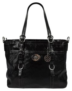 Coach Patent Leather Tote in Black
