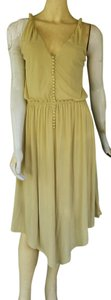 BCBGMAXAZRIA short dress Lemon grass Jersey Yellow on Tradesy