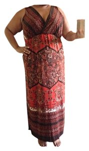 Brown/orange Maxi Dress by Snap