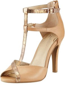 Seychelles Open Toe Strappy Vacchetta Leather Pumps