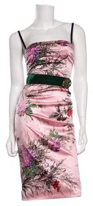 Dolce&Gabbana short dress Pink Multicolor Floral Print on Tradesy