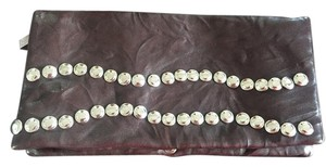 Sparkle & Fade Espresso Studded Party Brown Clutch