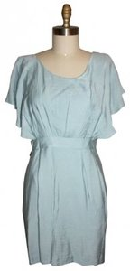 BCBGeneration short dress light blue Flutter Sleeves Cut Outs on Tradesy