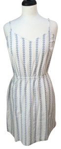 J.Crew short dress White with Blue Stripes Cotton on Tradesy