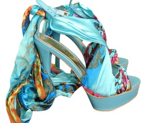 bebe Turquoise multi color Sandals