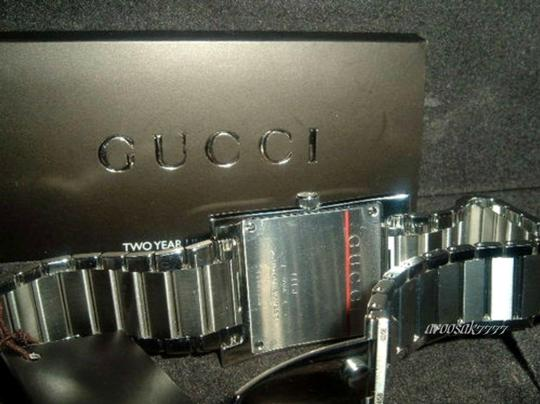 Gucci Gucci YA111401 Square Stainless Steel Swiss Bracelet Watch 111J NWT