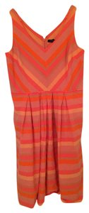 Lands End short dress pink, orange, and peach stripe on Tradesy