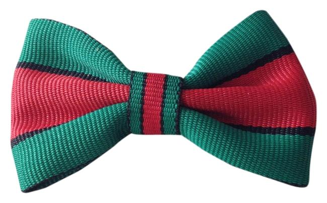 Item - Red Green & Black Hairbow Hair Accessory