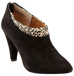 Seychelles Animal Print Suede Pointed Toe Black Suede Boots
