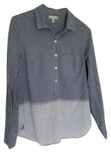J.Crew Longsleeve Gingham Casual Button Down Shirt navy, grey
