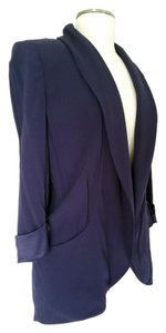 Etcetera Casual Work Professional Open Front blue Jacket