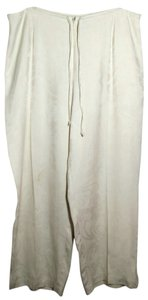 Tommy Bahama Siik Drawstring Floral Relaxed Pants Ivory