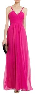 BCBGMAXAZRIA Overlay Gown Smocked Prom Dress