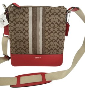 Coach Legacy Ocelot Swingpack Leather Cross Body Bag