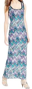 Purple Maxi Dress by Connected Apparel Chevron Maxi Sleeveless Scoop Neck Nwt