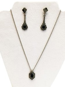 Other Art-Deco Styled Jewelry Set (Necklace and Earrings-Pierced) [ Roxanne Anjou Closet ]