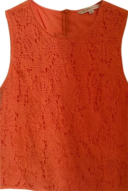 Trina Turk Orange Sleeveless Summer Tradesy Top tangerine
