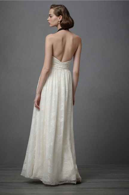 Item - Ivory Silk City Of Light Modern Wedding Dress Size 4 (S)