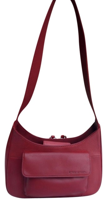 Item - Hobo Small Organizer with Built In Wallet Red Leather Shoulder Bag