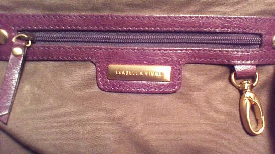 Isabella Fiore Satchel in brown, gold
