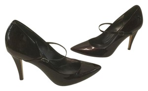 Via Spiga Footstrap Padded Insoles Designed Italy Burgundy patent all leather Pumps
