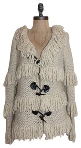 Romeo & Juliet Couture Fringe Crochet Knit Cardigan