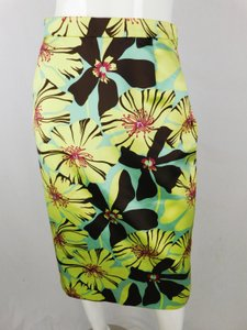 Prada Silk Pencil Skirt multicolor