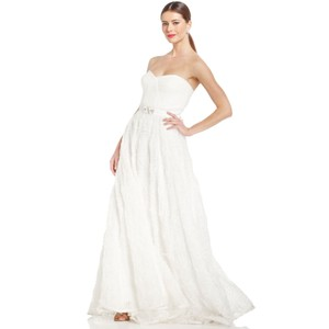 Adrianna Papell Strapless Rosette Wedding Gown Wedding Dress