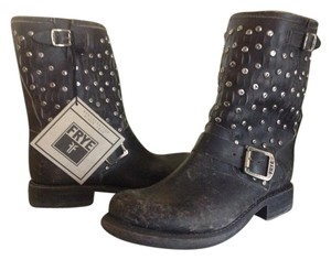 Frye Jenna Stud Leather Black Boots
