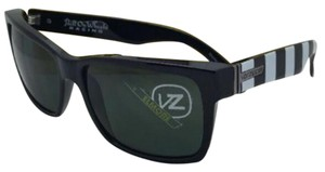 Von Zipper Hell On Wheels VONZIPPER Sunglasses VZ ELMORE Black-Blue-White w/ Vintage Grey
