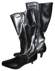 Liz Claiborne Leather Boot Black Boots