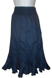 Grace Elements Casual Summer Skirt Navy Blue