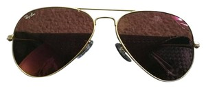 Ray-Ban Ray-Ban Aviator Cyclamen Mirror Lens w/ Matte Gold Frame Unisex Sunglasses- RB3025 112/17