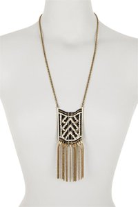 Lucky Brand Lucky Brand Beaded Square Tassel Necklace