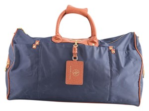 Adrienne Vittadini Duffle Navy Blue Navy Blue/Brown Travel Bag