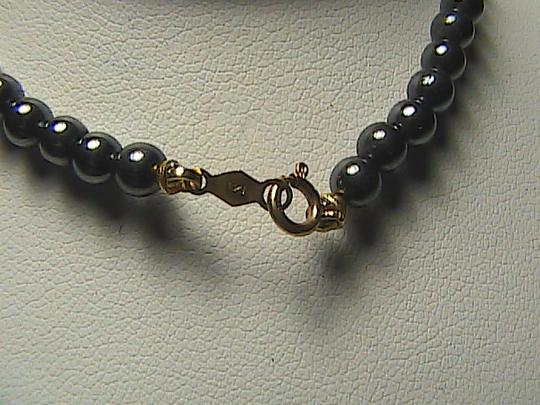 Unknown 14k Solid Yellow Gold Gray and White fresh water Pear Bracelet