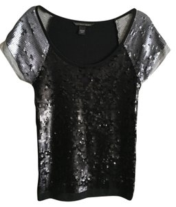 Victoria's Secret Top Black and Silver Sequin