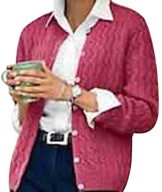 Appleseed's Cotton Pink Button Down Cardigan
